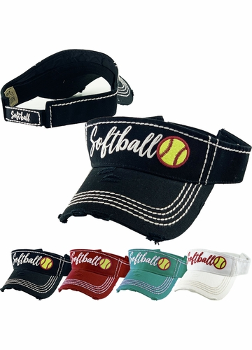 Softball Washed Vintage Sun Visor