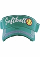 Softball Washed Vintage Sun Visor inset 2