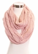 Solid Color CC Cable Knit Infinity Scarf inset 3