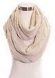 Solid Color CC Cable Knit Infinity Scarf inset 4