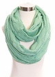 Solid Color CC Cable Knit Infinity Scarf inset 2