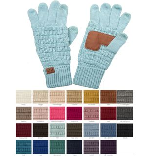 Solid Color Knit CC Gloves