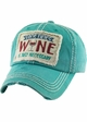 SOMETIMES WINE IS JUST NECESSARY Vintage Baseball Hat inset 4