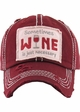 Sometimes Wine is Just Necessary Vintage Baseball Hat inset 2