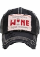 Sometimes Wine is Just Necessary Vintage Baseball Hat inset 3