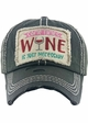 SOMETIMES WINE IS JUST NECESSARY Vintage Baseball Hat inset 1