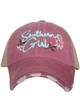 Southern Girl with Flowers Trucker Hat inset 1