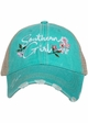 Southern Girl with Flowers Trucker Hat inset 2