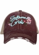 Southern Girl with Flowers Trucker Hat inset 3