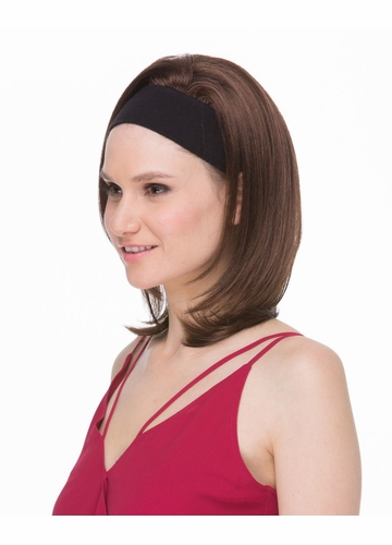 Straight Hair 3/4 Wig with Headband Mildred
