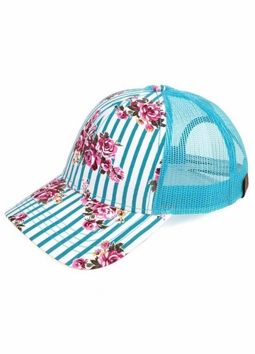 Stripes and Roses CC Brand Baseball Hat