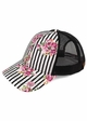 Stripes and Roses CC Brand Baseball Hat inset 1