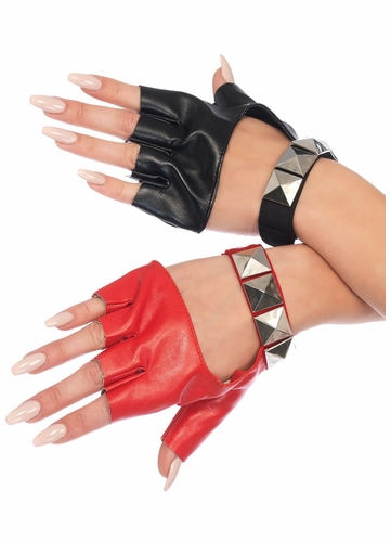 Studded Two Color Gloves