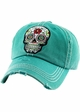 Sugar Skull Patch Baseball Hat inset 1