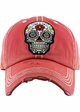 Sugar Skull Patch Baseball Hat inset 2