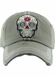 Sugar Skull Patch Baseball Hat inset 4