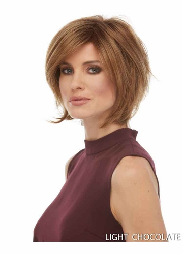 Tapered Bob Wig with Sideswept Bangs Raquel