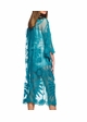 Teal Lace Kimono Beach Cover-Up inset 1
