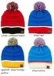 Team Tri-Color CC Beanie Hat with Pom inset 2