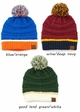 Team Tri-Color CC Beanie Hat with Pom inset 3