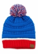 Team Tri-Color CC Beanie Hat with Pom inset 4