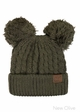 Thick Knit CC Beanie Hat with Double Pom inset 2