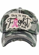 This is My Fight - Pink Ribbon Washed Vintage Ballcap inset 1