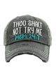Thou Shalt Not Try Me Mom 24:7 Vintage Baseball Hat inset 1