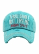 Thou Shalt Not Try Me Mom 24:7 Vintage Baseball Hat inset 2