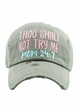 Thou Shalt Not Try Me Mom 24:7 Vintage Baseball Hat inset 4