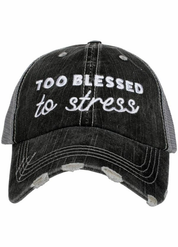 Too Blessed to Stress Trucker Hat