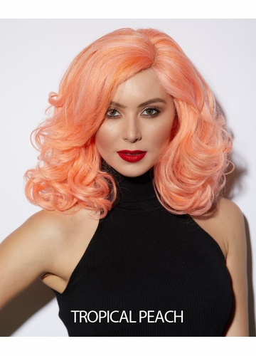 Tropical Peach Lace Front Wig Reagan