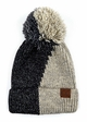 Two Color Knit CC Beanie Hat with Pom  inset 2