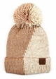 Two Color Knit CC Beanie Hat with Pom  inset 3