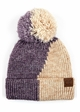 Two Color Knit CC Beanie Hat with Pom  inset 4
