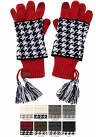 Two-Piece Houndstooth CC Gloves