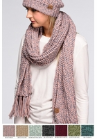 Two Tone Chunky Long Scarf by CC Brand