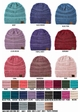 Two Tone Knit CC Beanie Hat inset 1