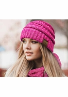 Two Tone Knit CC Beanie Hat