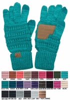 Two Tone Knit CC Gloves