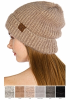 Ultra Soft Two Tone CC Beanie Hat
