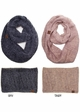 Ultra Soft Two Tone CC Infinity Scarf inset 1