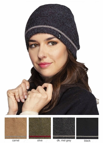 Unisex CC Beanie with Stripe Accent