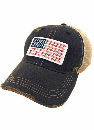 US Flag Football Patch Trucker Hat
