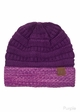 VERY LIMITED CC Knit Beanie Hat with Two Tone Cuff inset 2