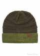 VERY LIMITED CC Knit Beanie Hat with Two Tone Cuff inset 3