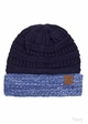 VERY LIMITED CC Knit Beanie Hat with Two Tone Cuff inset 4