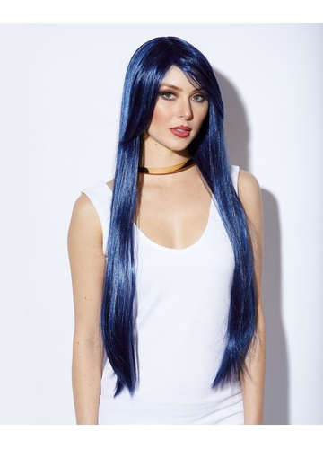 Waist Long Wig Fate in Midnight Blue Color