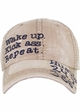 Wake Up. Kick Ass. Repeat. Vintage Ballcap inset 3