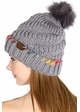 Warm CC Hat with Pom and Ombre Trim inset 1